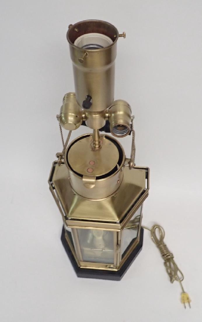 Brass Ship's Lantern as Lamp - 7