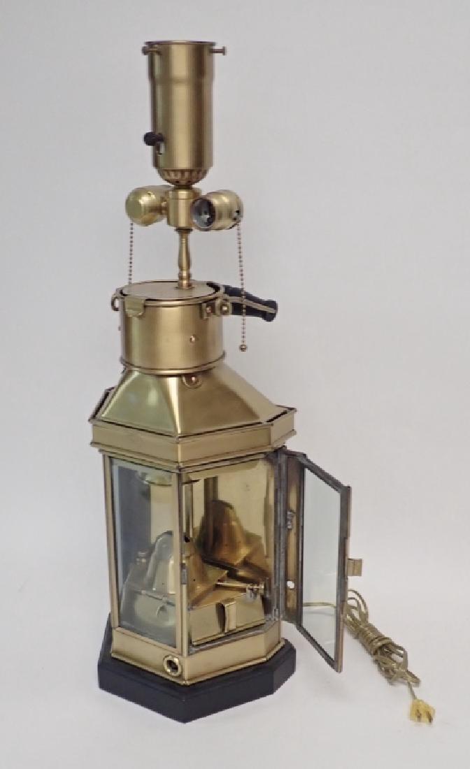 Brass Ship's Lantern as Lamp - 8