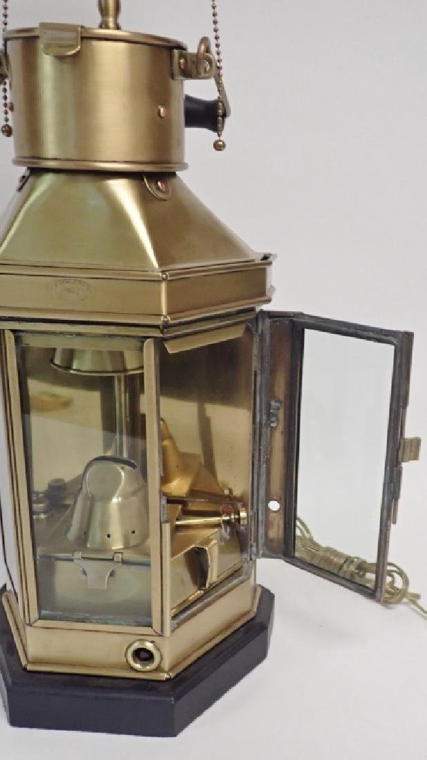 Brass Ship's Lantern as Lamp - 9