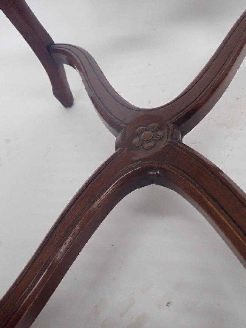Pair of Caned Carved Wood Arm Chairs - 7