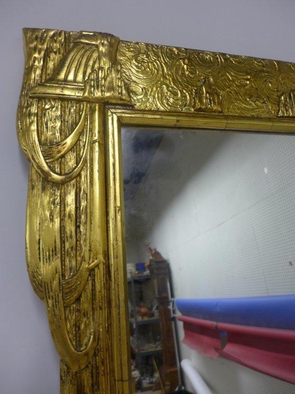 Art Deco Gold Gilt Mirror - 2