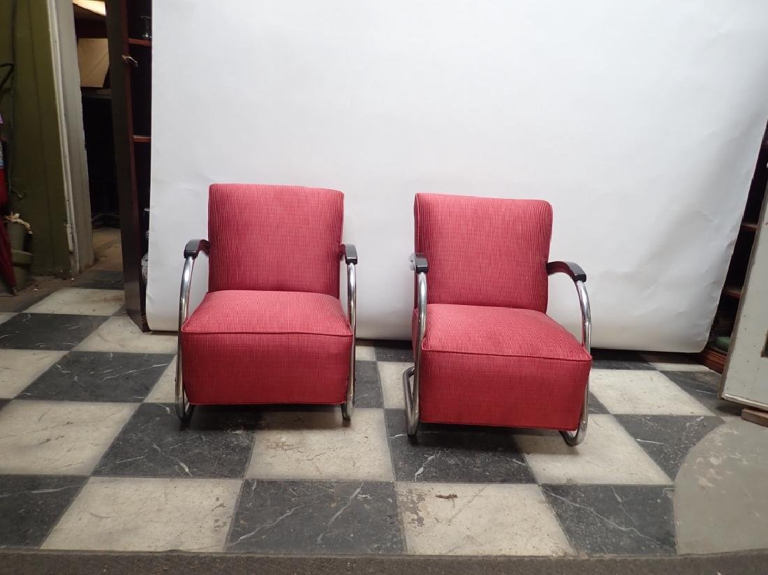 Mid-Century German Tubular Steel Bauhaus Chairs - 2