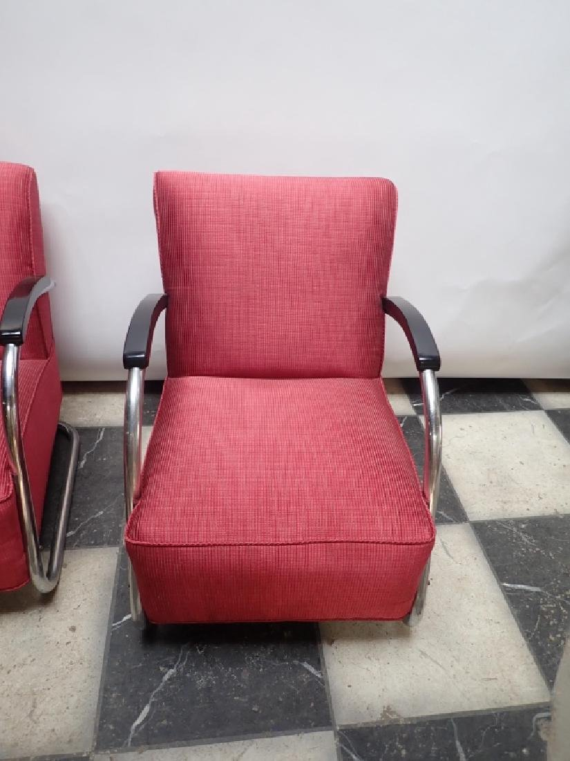 Mid-Century German Tubular Steel Bauhaus Chairs - 3