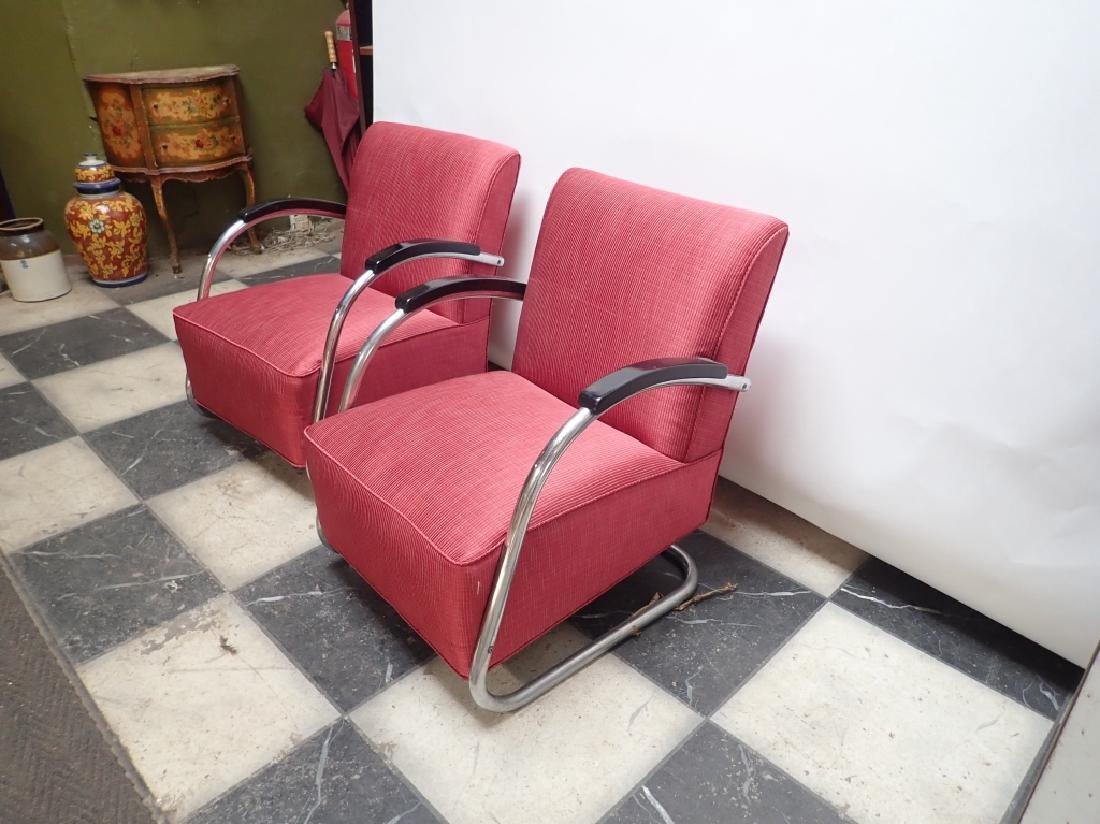 Mid-Century German Tubular Steel Bauhaus Chairs - 4