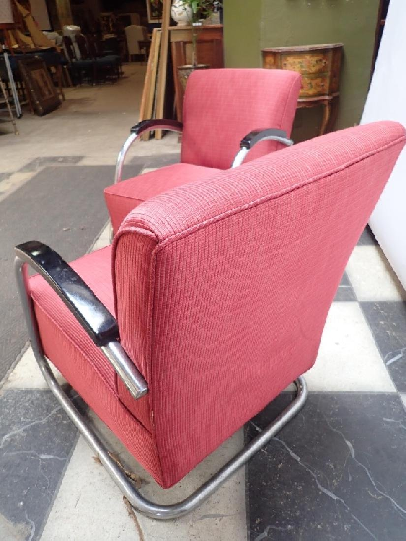 Mid-Century German Tubular Steel Bauhaus Chairs - 6