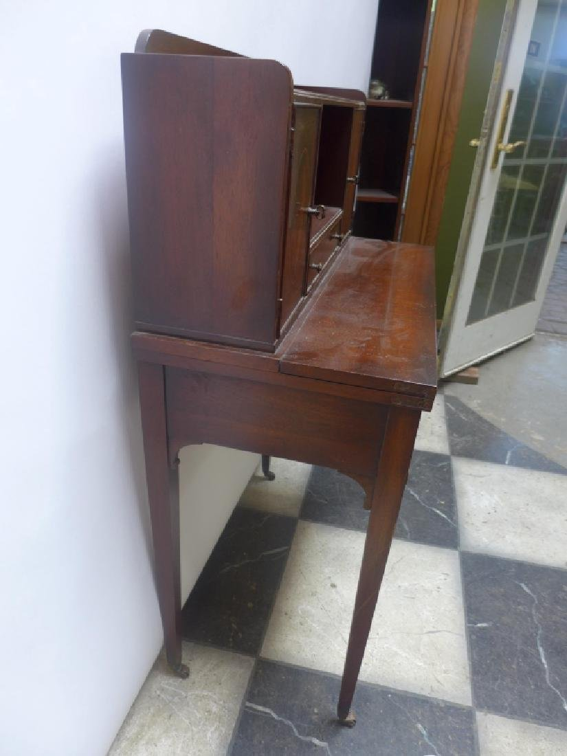 Brandt Cabinet Works Mahogany Secretary Desk - 2