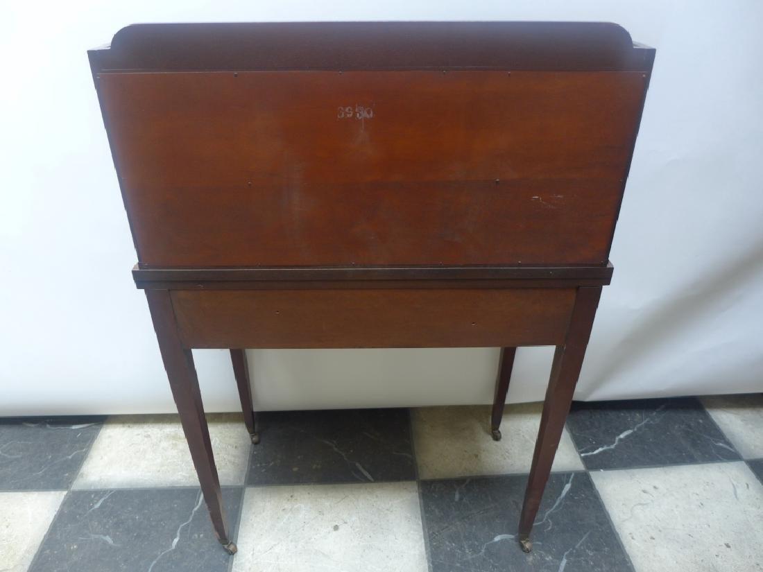 Brandt Cabinet Works Mahogany Secretary Desk - 8