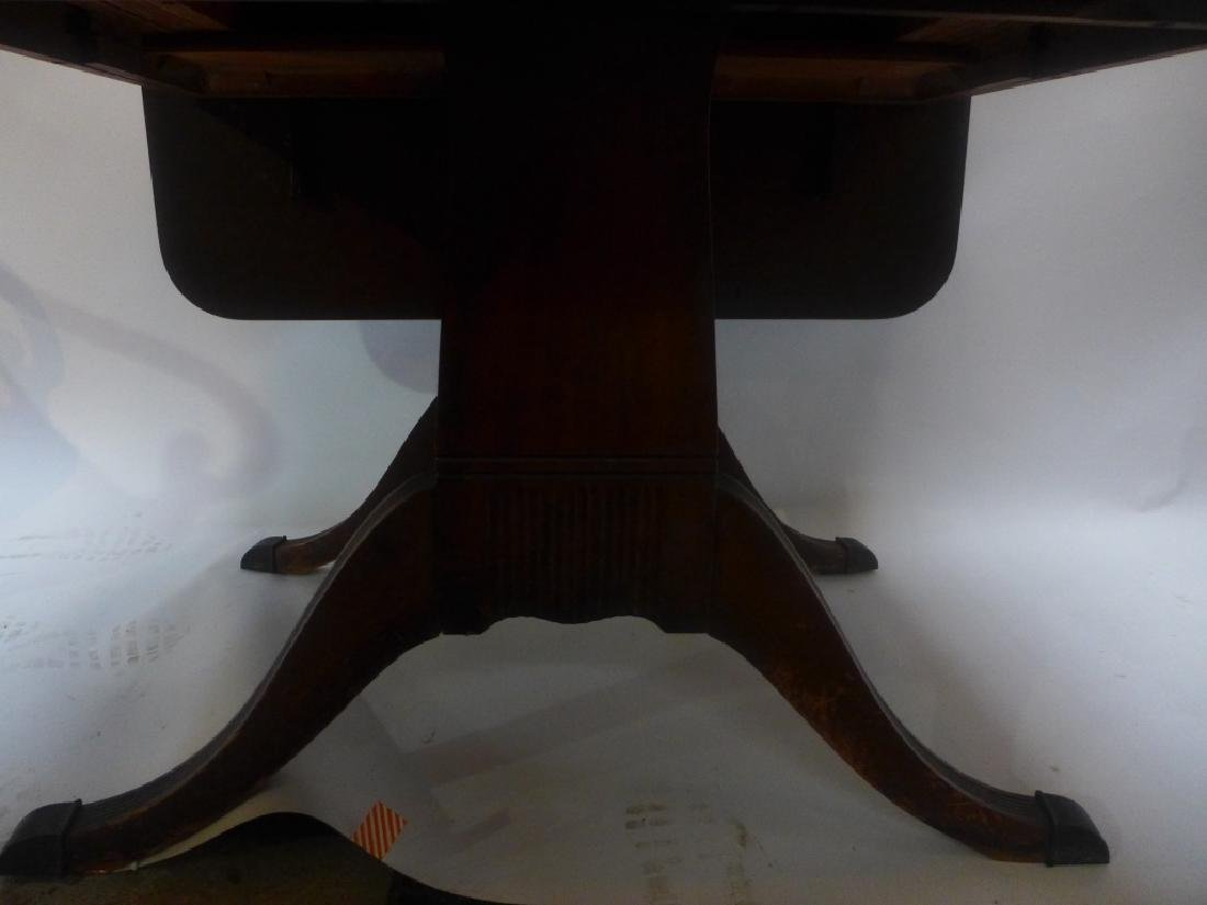 Mahogany Table W/ Leaves & Chairs - 2