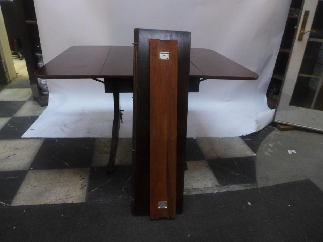 Mahogany Table W/ Leaves & Chairs - 3