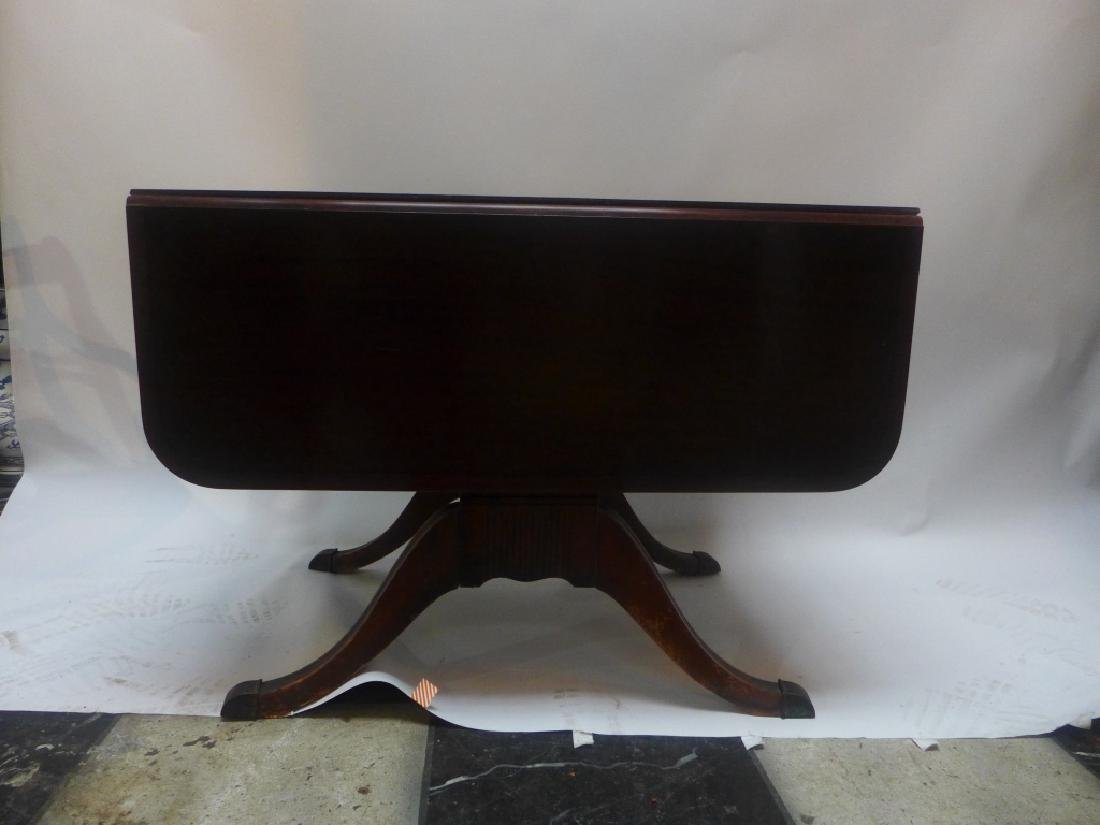 Mahogany Table W/ Leaves & Chairs - 7