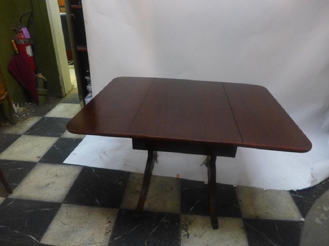 Mahogany Table W/ Leaves & Chairs - 9