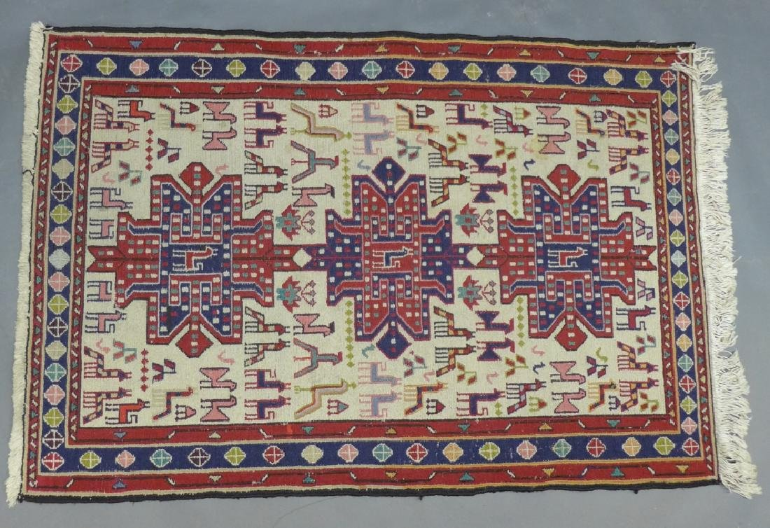 Vintage Turkish Soumak Rug - 10