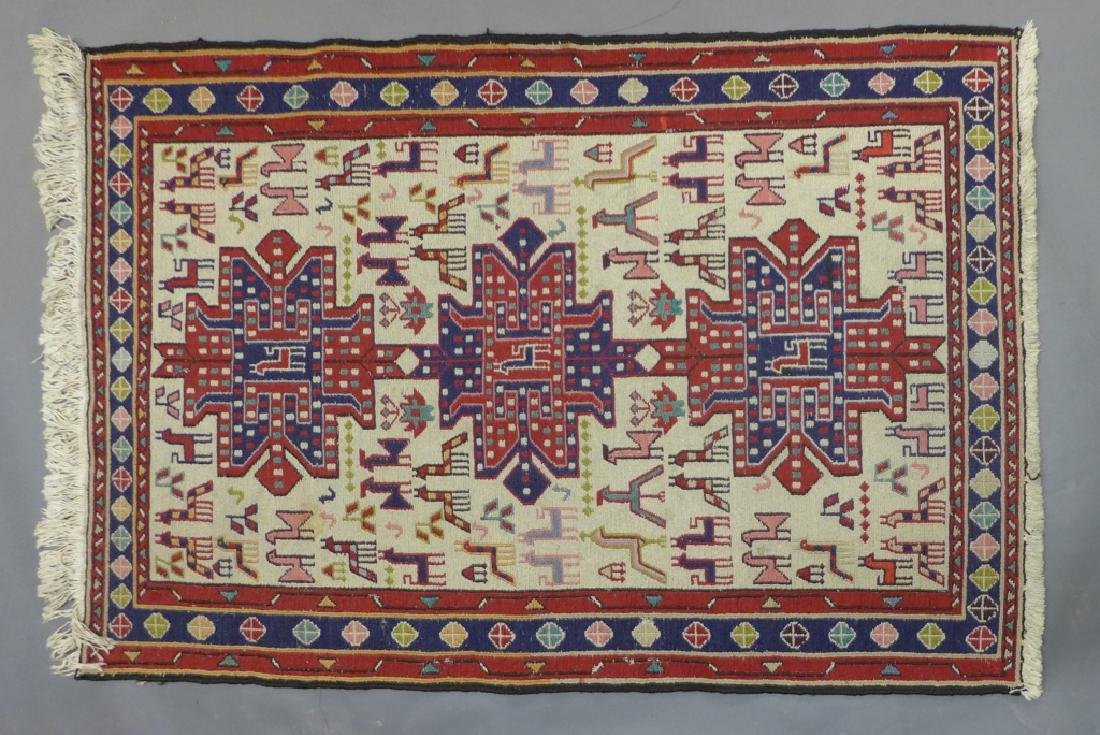 Vintage Turkish Soumak Rug