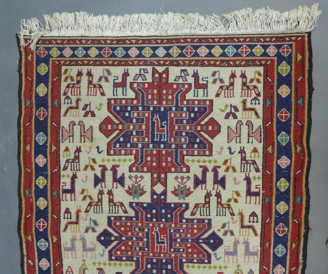 Vintage Turkish Soumak Rug - 3