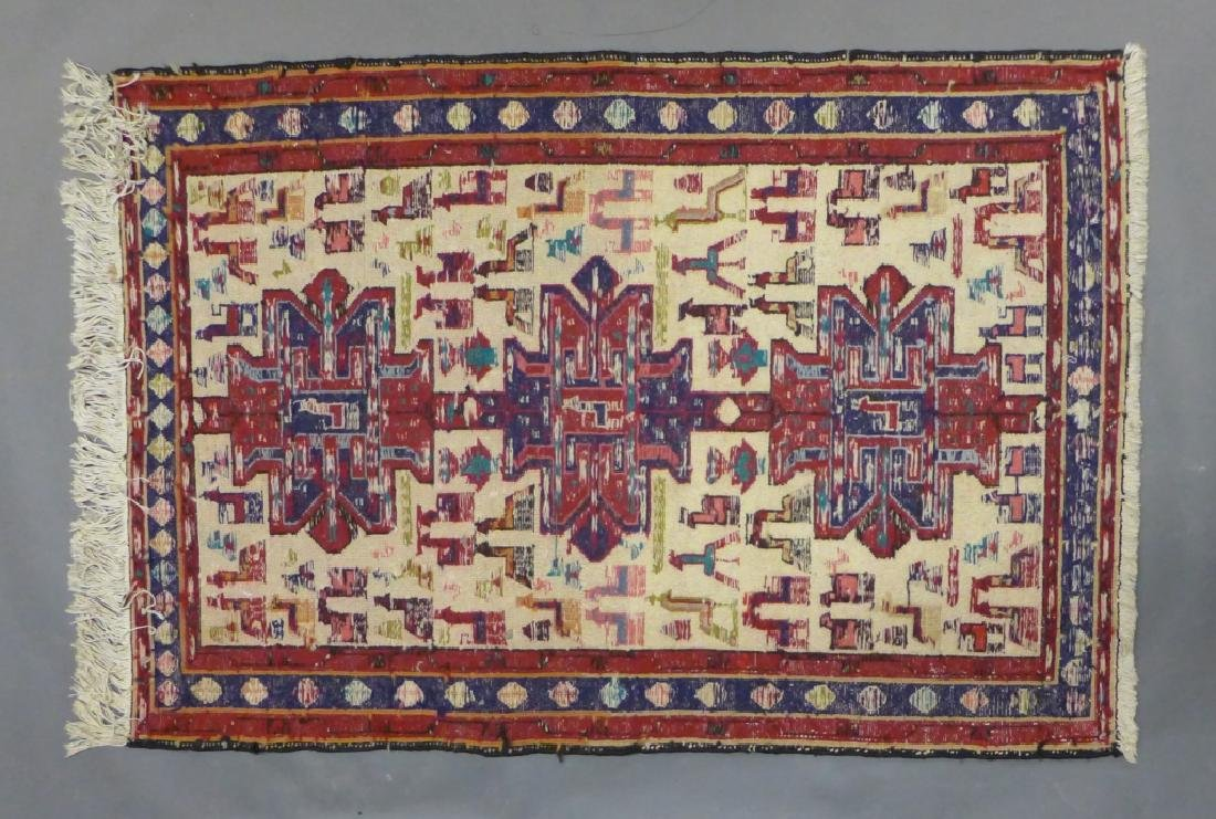 Vintage Turkish Soumak Rug - 6