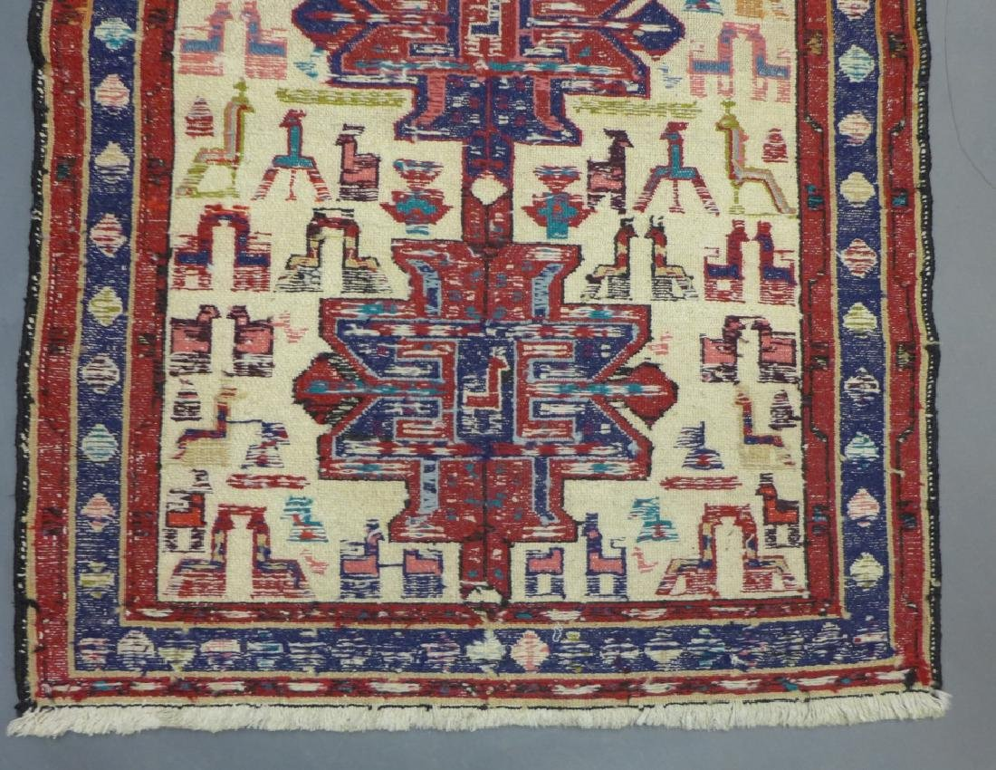 Vintage Turkish Soumak Rug - 7