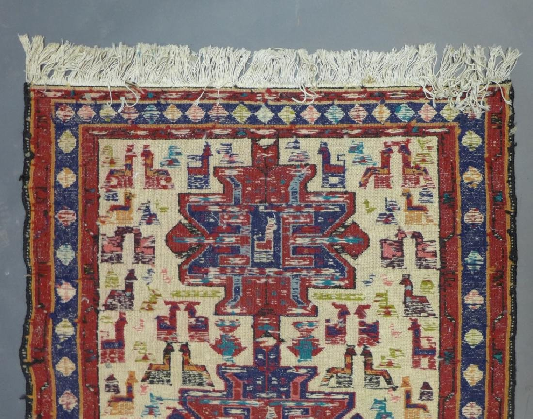 Vintage Turkish Soumak Rug - 8