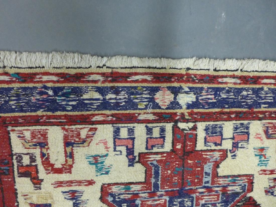 Vintage Turkish Soumak Rug - 9