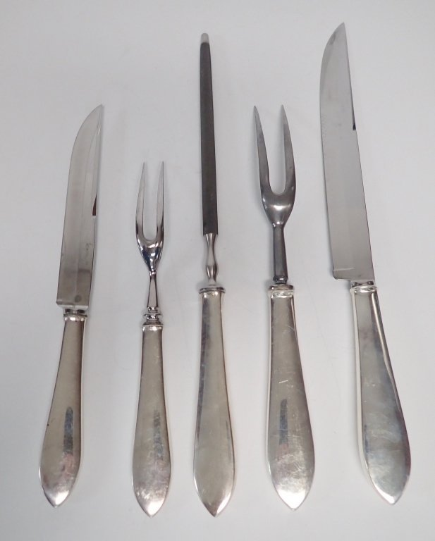 Tiffany & Co. Silver Carving Pieces - 7