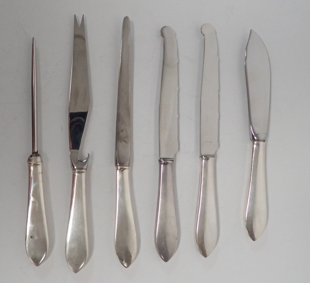 Tiffany Sterling Serving Knives, 5 pc - 2