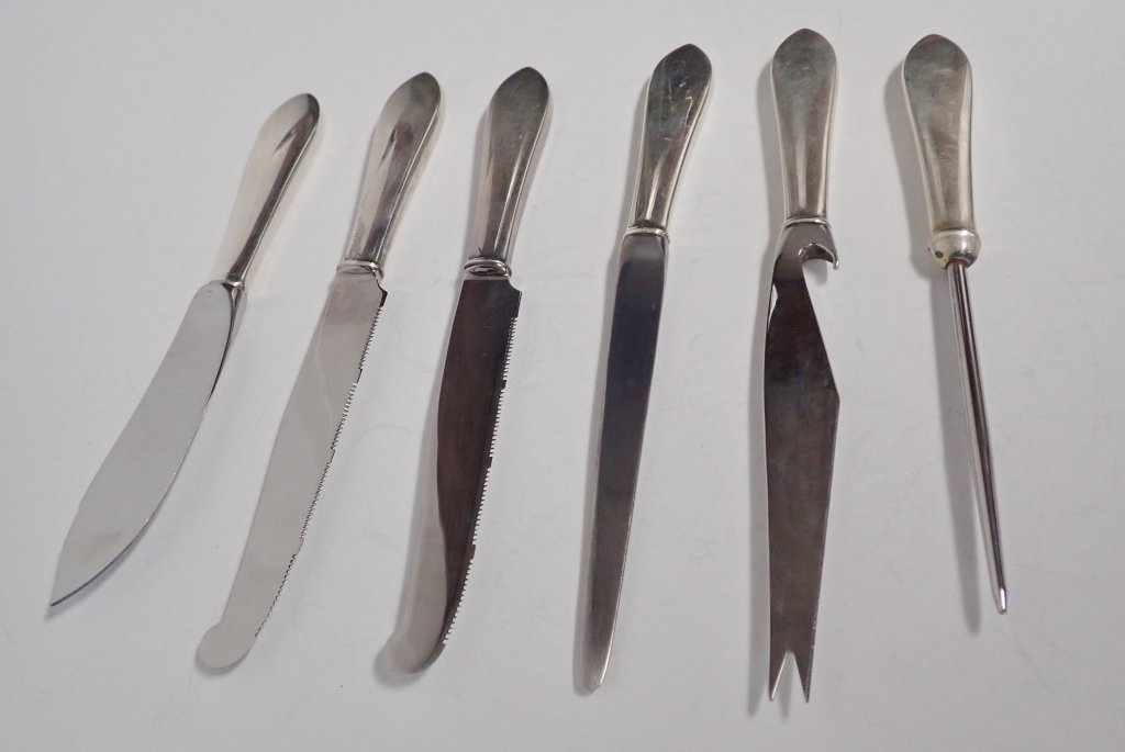 Tiffany Sterling Serving Knives, 5 pc - 3