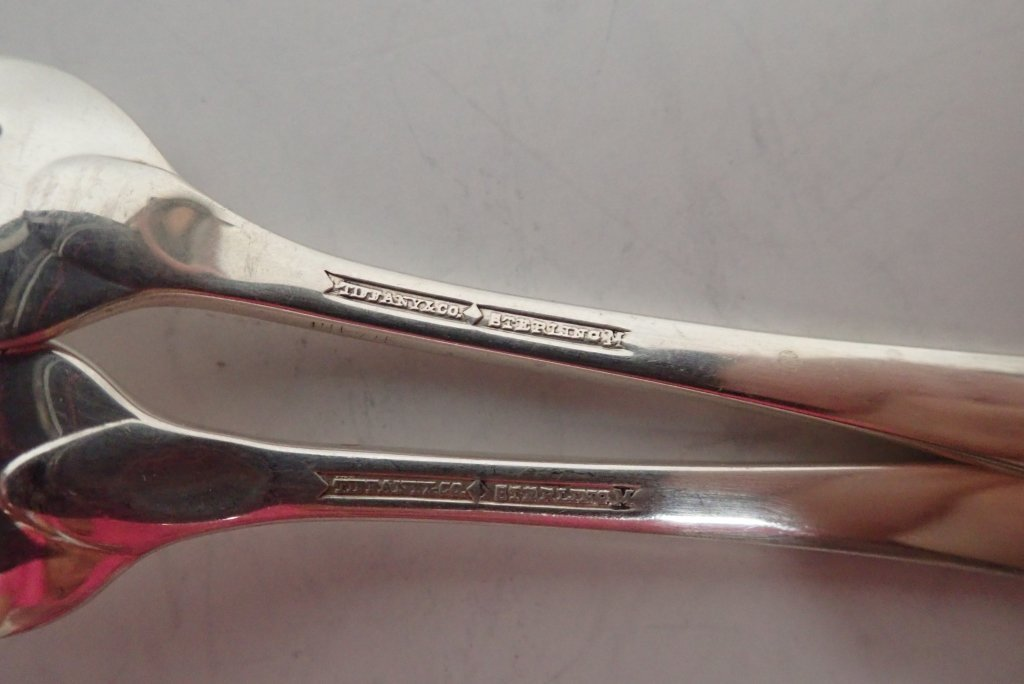 Six Assorted Tiffany Sterling Serving Forks - 7