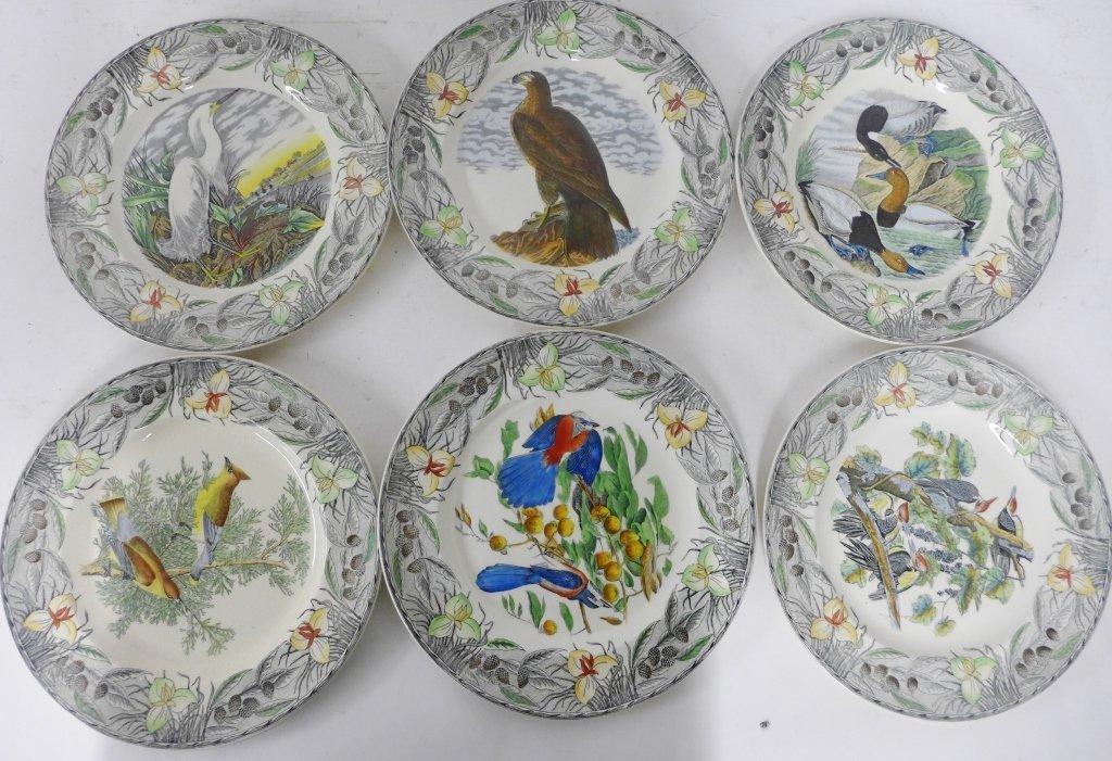 John James Audubon Hand Colored Decorative Plates