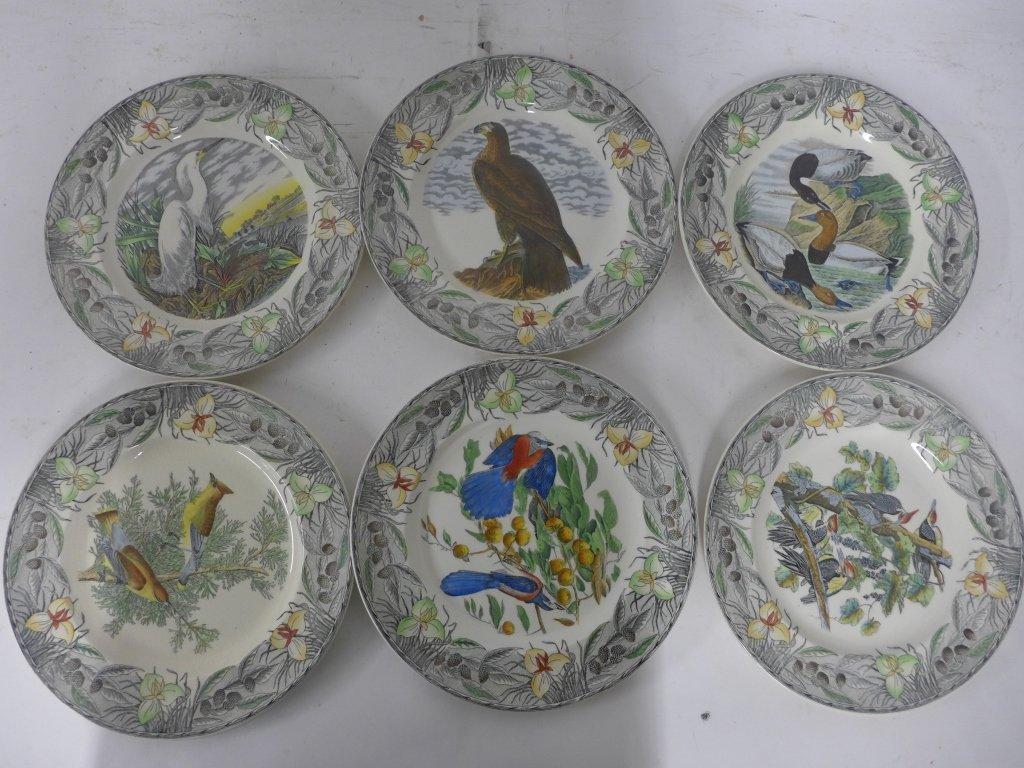John James Audubon Hand Colored Decorative Plates - 4