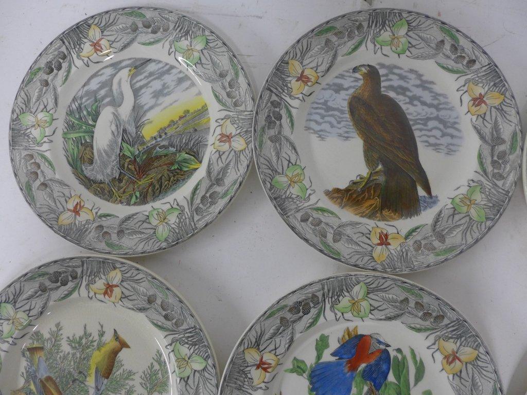 John James Audubon Hand Colored Decorative Plates - 6