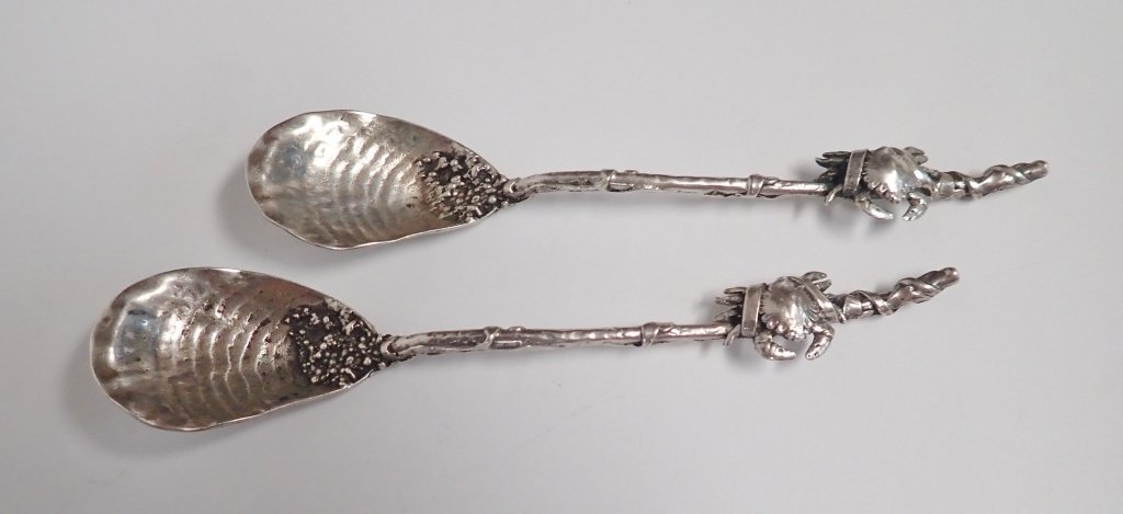Gorham Narragansett Sterling Silver Crab Spoons - 10