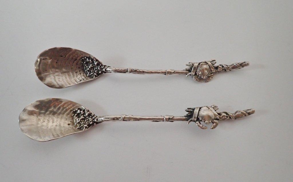 Gorham Narragansett Sterling Silver Crab Spoons