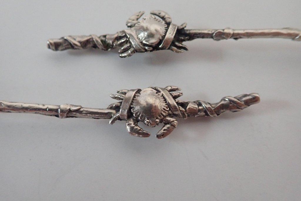 Gorham Narragansett Sterling Silver Crab Spoons - 4