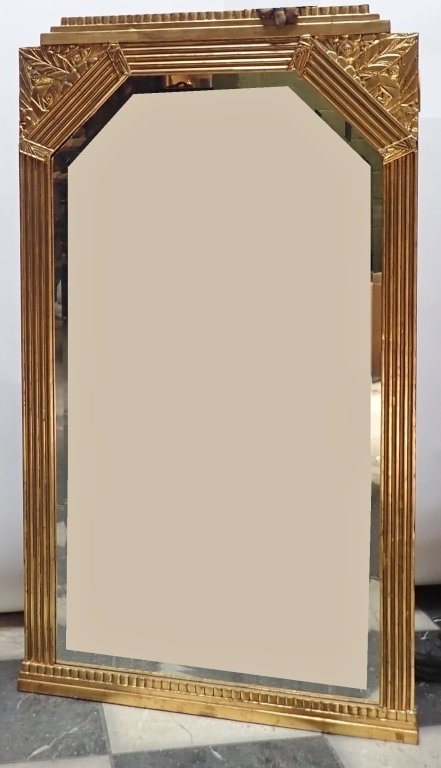Art Deco Gilt Beveled Mirror