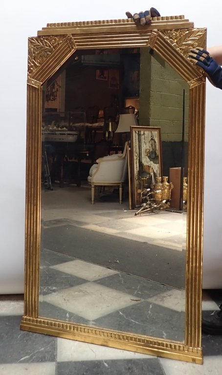 Art Deco Gilt Beveled Mirror - 2
