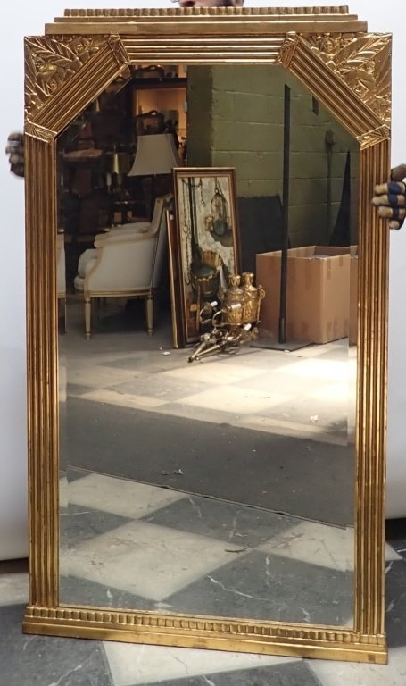 Art Deco Gilt Beveled Mirror - 4