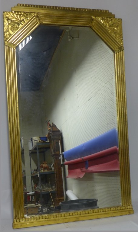Art Deco Gilt Beveled Mirror - 5