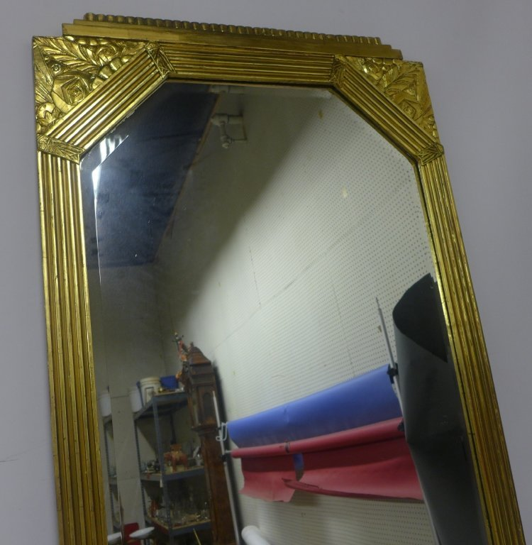 Art Deco Gilt Beveled Mirror - 6
