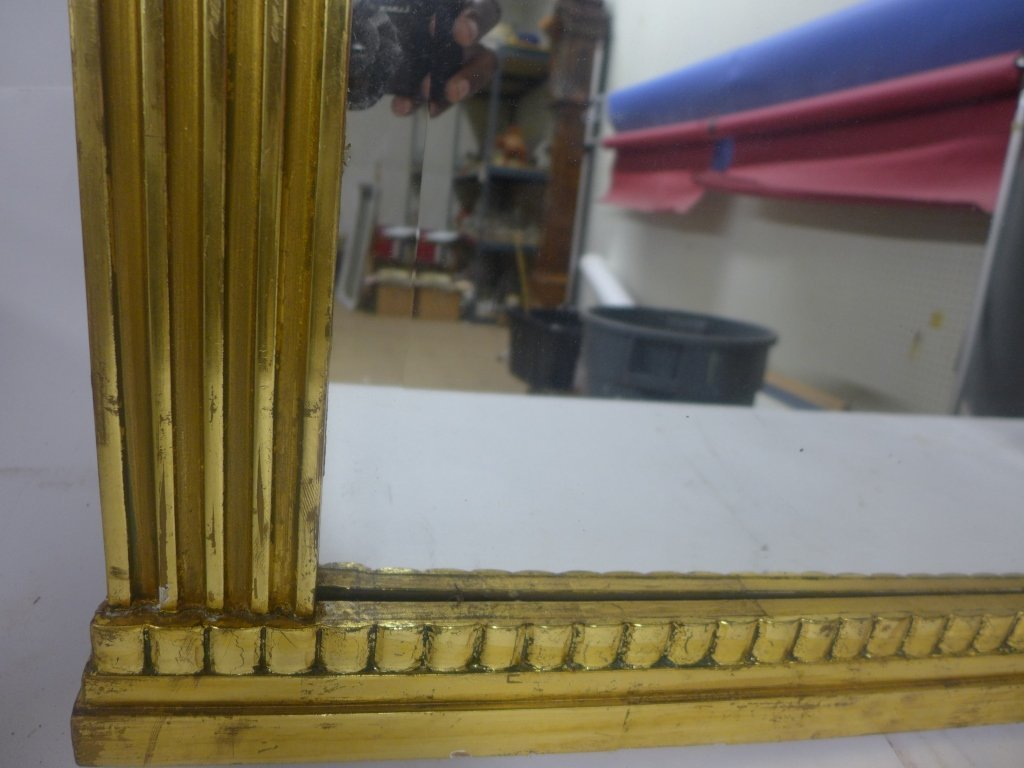 Art Deco Gilt Beveled Mirror - 7