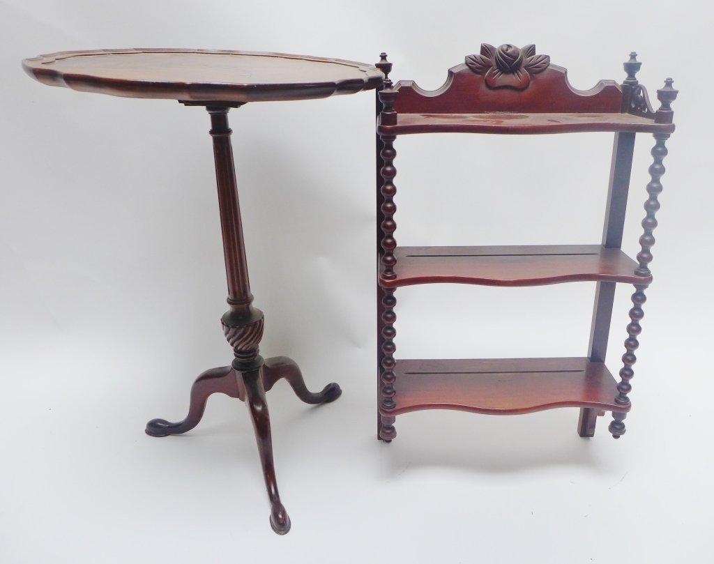 What-Not Wall Shelf & Tilt Top Table