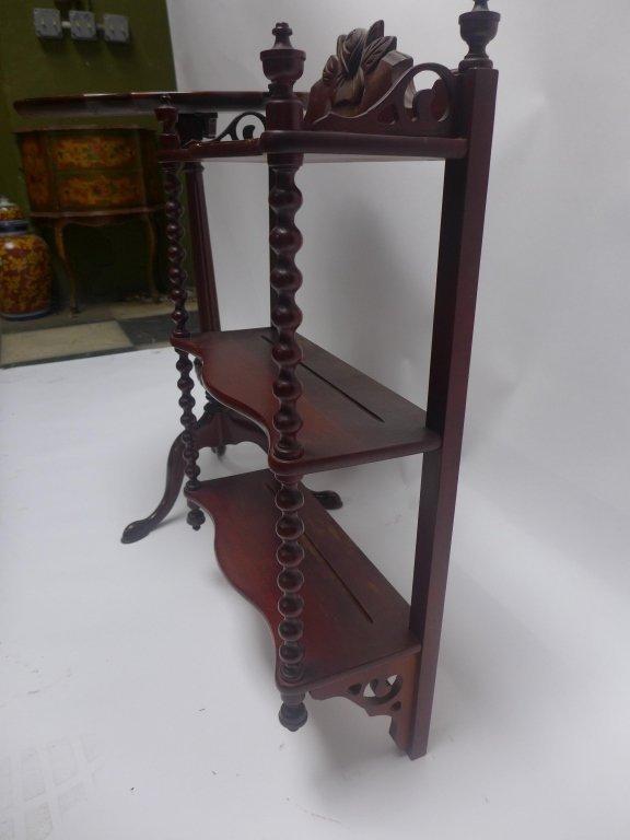What-Not Wall Shelf & Tilt Top Table - 4