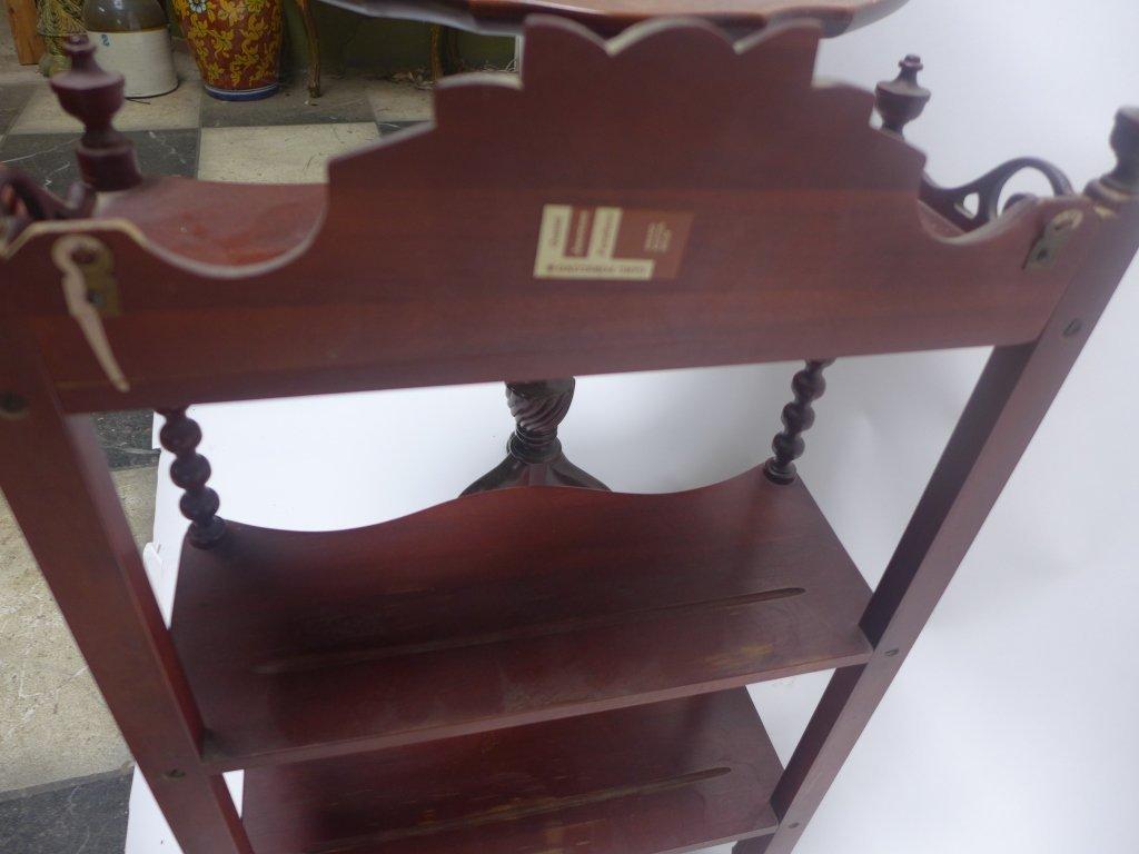 What-Not Wall Shelf & Tilt Top Table - 8