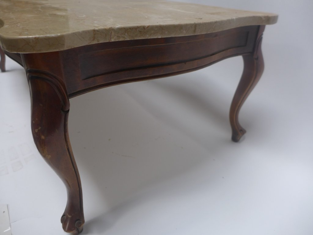 Marble Top Low Coffee Table - 3