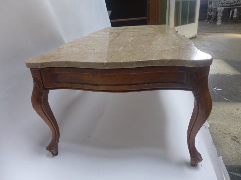 Marble Top Low Coffee Table - 6