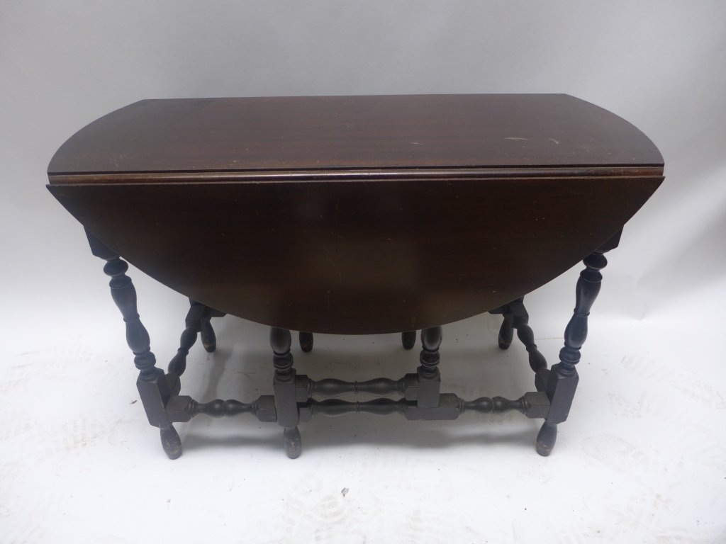 Dark Wood Drop-Leaf Table