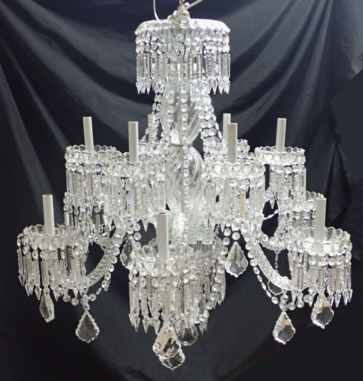 Magnificent Crystal 12 Arm Chandelier