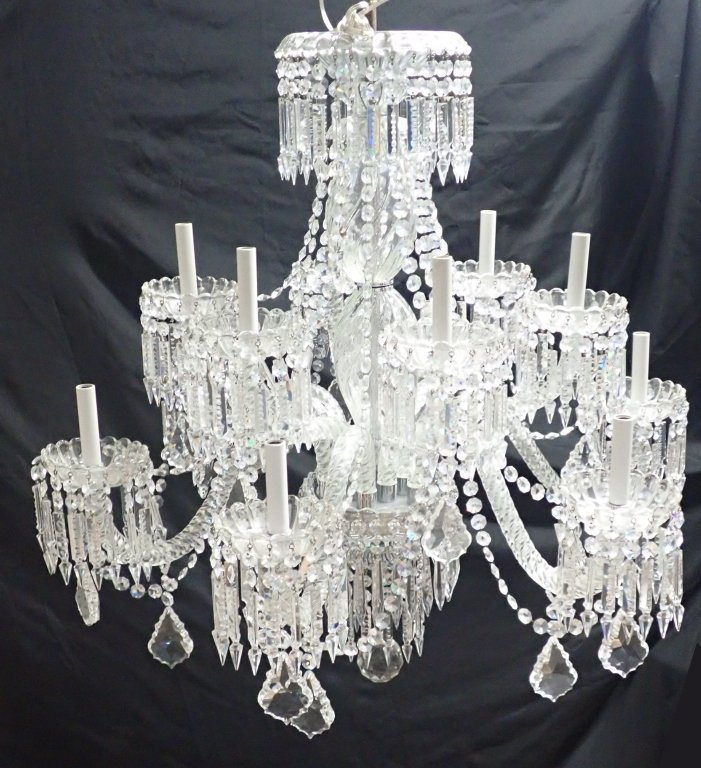 Magnificent Crystal 12 Arm Chandelier - 7