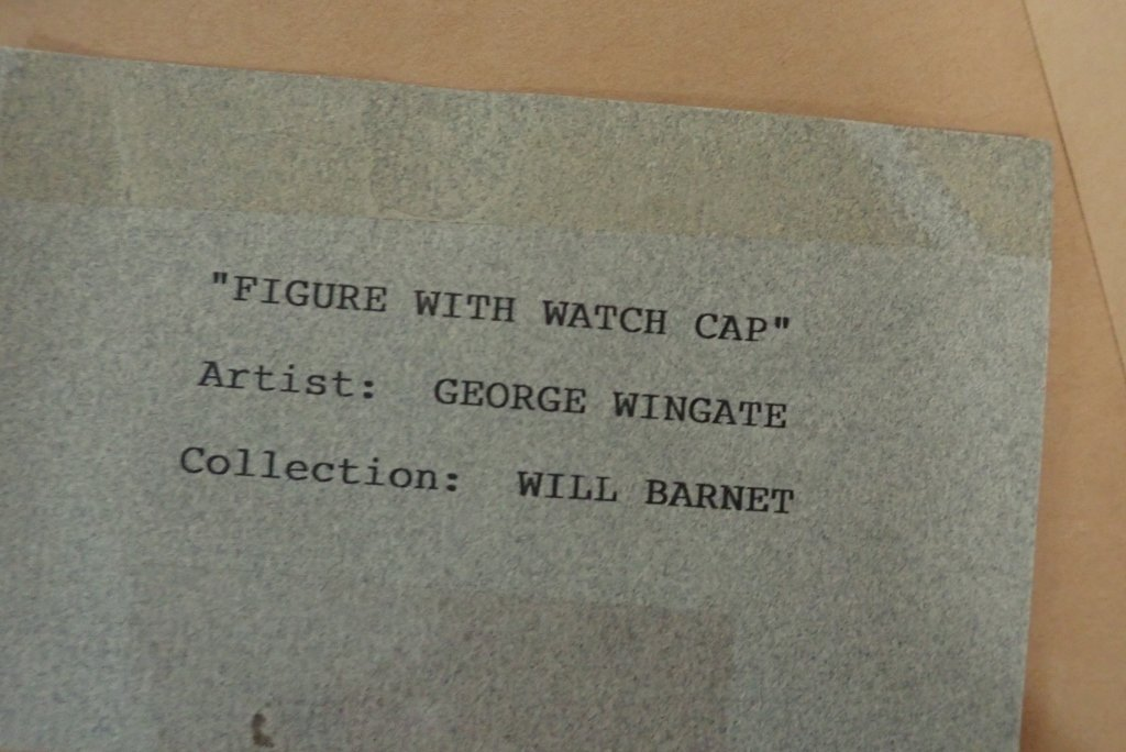 """George Wingate """"Figure with Watch Cap"""" - 5"""