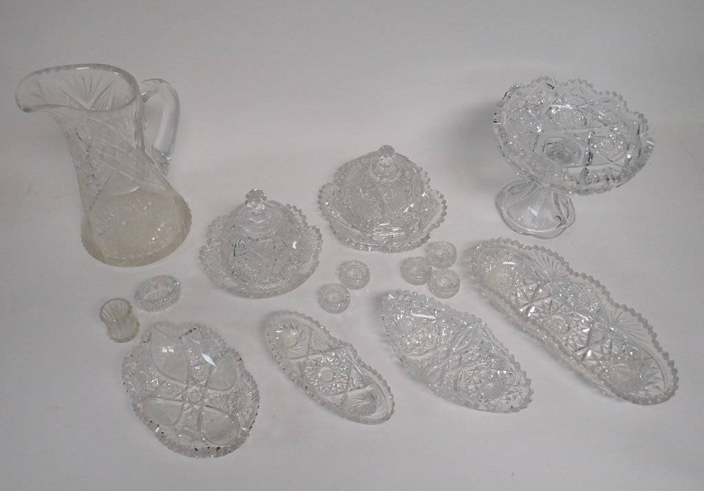15 Piece Cut Crystal Serving Ware