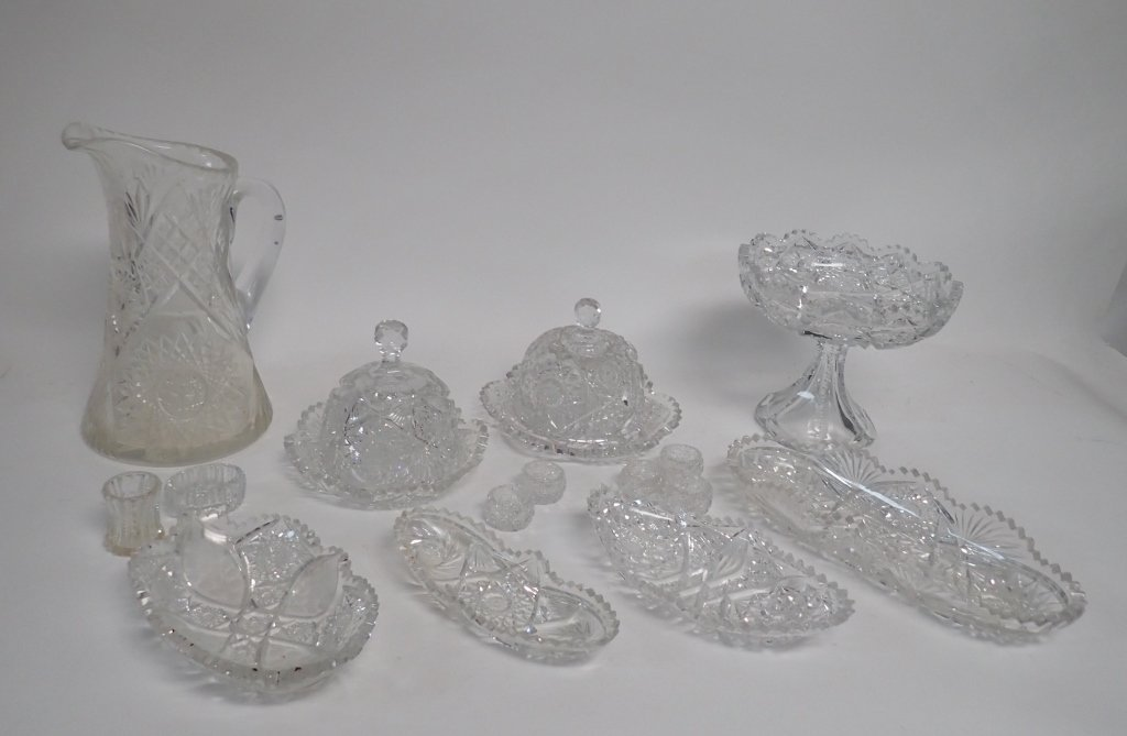 15 Piece Cut Crystal Serving Ware - 2