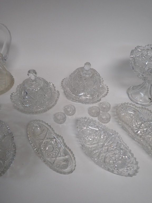 15 Piece Cut Crystal Serving Ware - 4